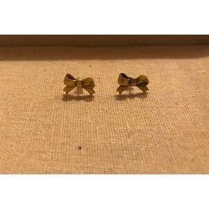 Vintage Inspired Gold Bow Earrings